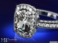 ES198CUWG Tonnaeau Cushion Diamond Halo Engagement ring