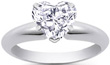 Hear Diamond Engagement Rings