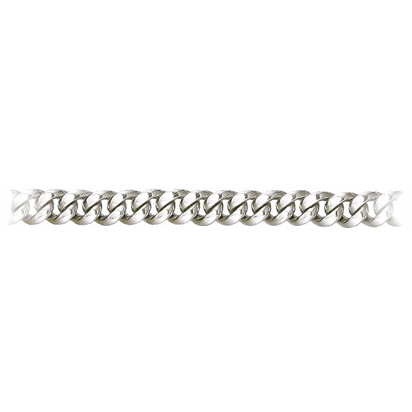 8 Inch 950 Platinum Cuban Curb Chain Bracelet, 10 mm wide