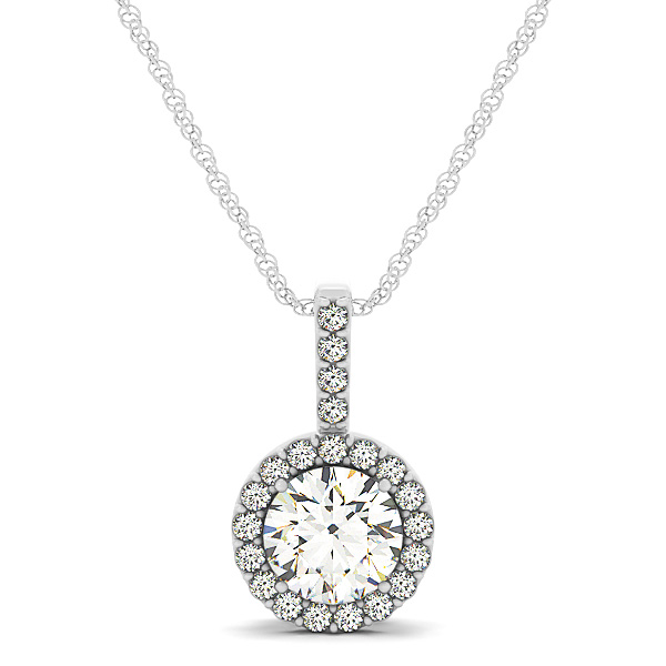 Filigree Halo Diamond Pendant 0.63ct