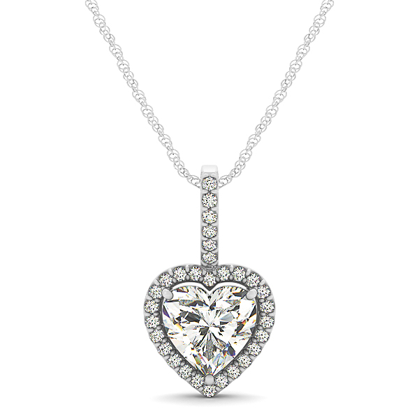 Heart Halo Diamond Pendant Setting