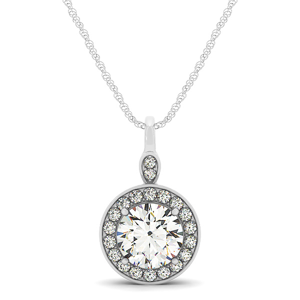 Filigree Halo Diamond Pendant 0.67ct