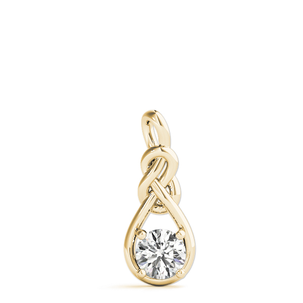 Double Love Knot Diamond Pendant .5 ct. Yellow Gold