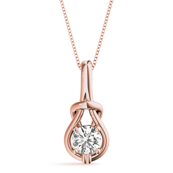 Love Knot Pendant .5ct Rose Gold