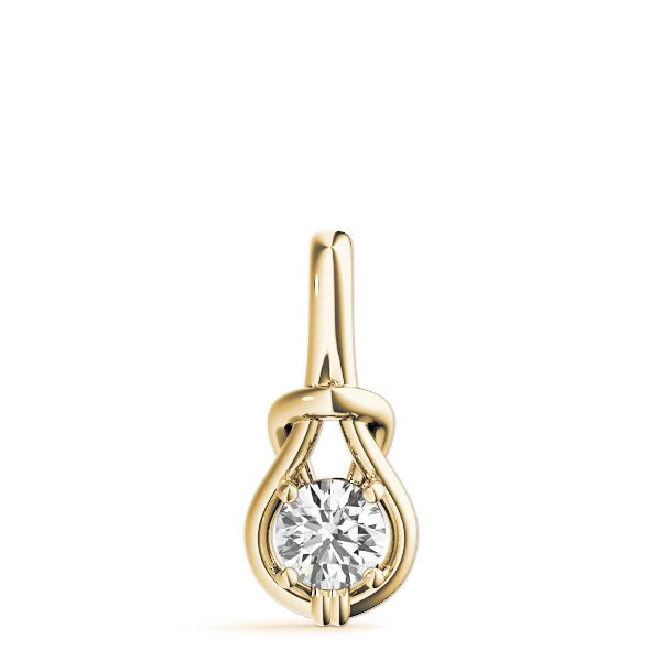 Love Knot Pendant .5ct Yellow Gold