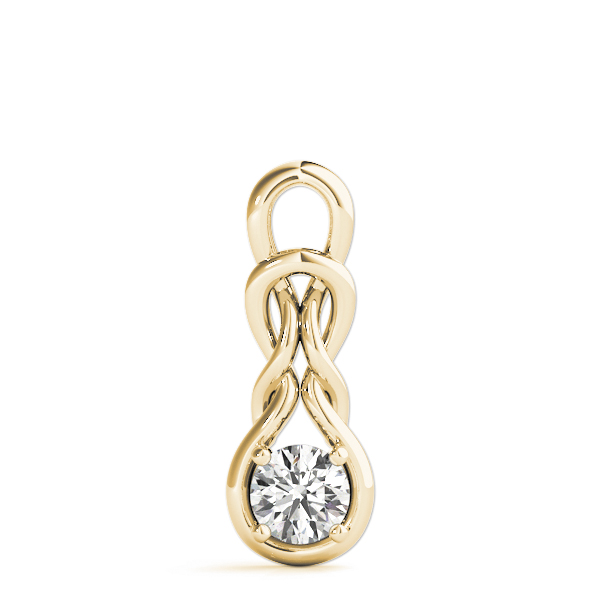Double Knot Pendant .5ct Yellow Gold