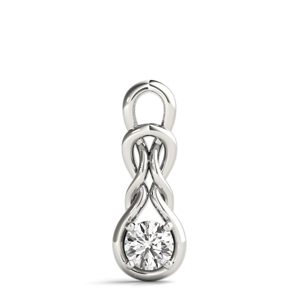 Double Knot Solitaire Pendant .50ct