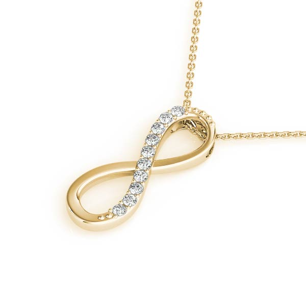 Infinity Diamond Pendant Yellow Gold