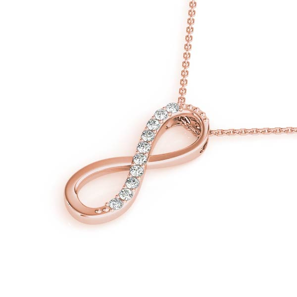 Infinity Diamond Pendant Rose Gold