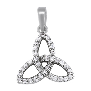 Celtic Knot Diamond Pendant