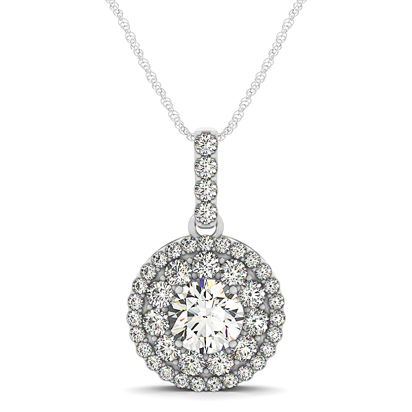 Double Halo Diamond Pendant 1.25ct