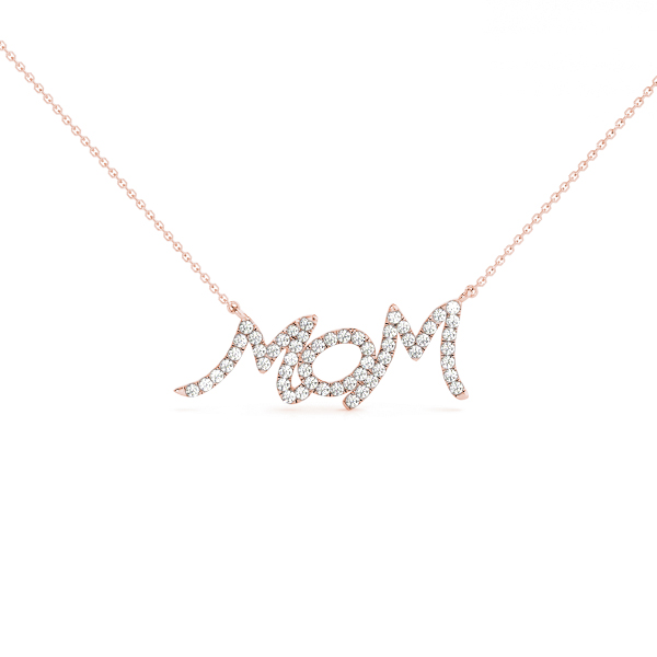 Diamond Mom Pendant Rose Gold