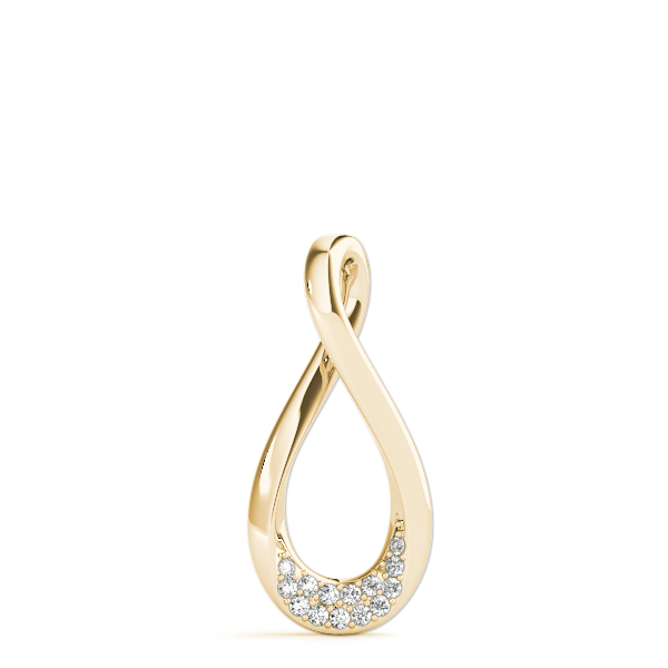 Pear Infinity Diamond Pendant Yellow Gold