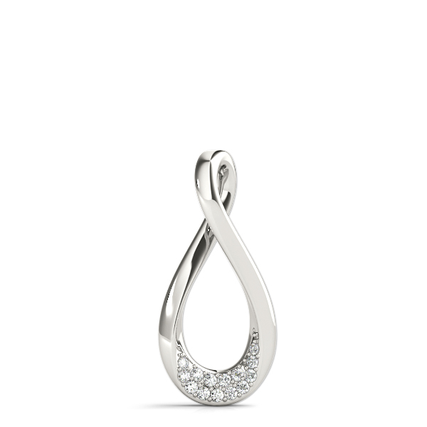 Tear Drop Infinity Diamond Pendant