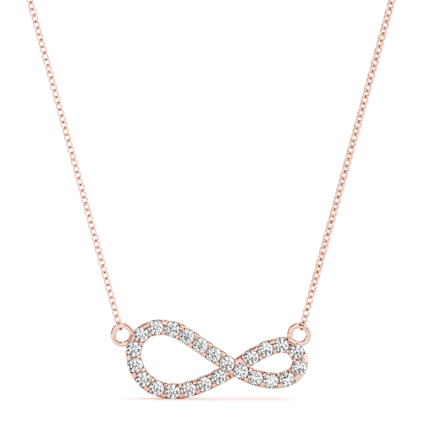 Modern Infinity Diamond Pendant Rose Gold