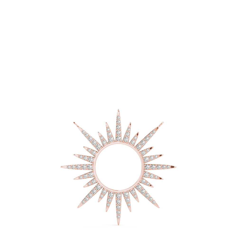 Diamond Starburst Pendant Rose Gold