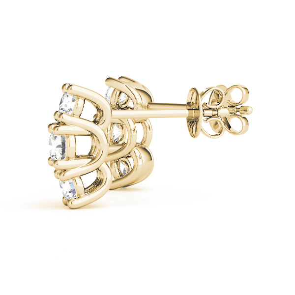 Three Stone Diamond Trellis Yellow Gold