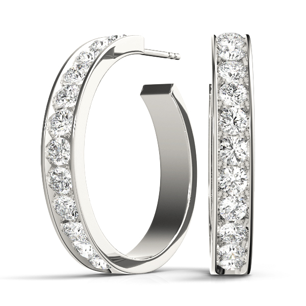 Open Hoop Diamond Earrings 0.24