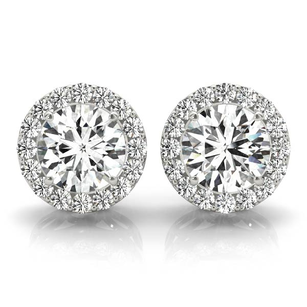 Diamond Filigree Halo Earring 0.71 ct.