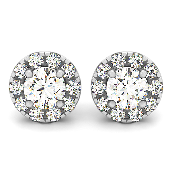 Halo Diamond Earrings 0.28 ct.