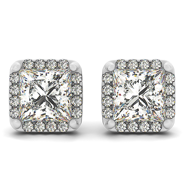 Princess Halo Earring 0.56 ct.