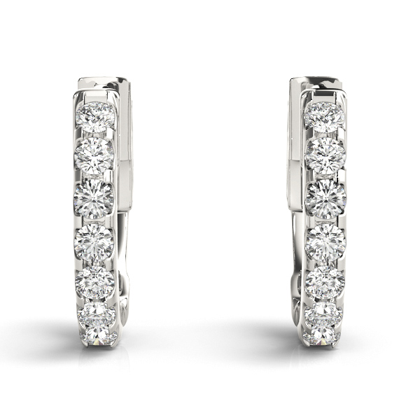 Diamond Hoop Earrings, 1/2
