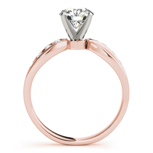 Swirl Channel Diamond Bridal Set Rose Gold