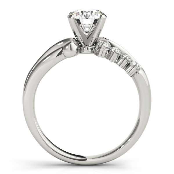 Swirl Infinity Diamond Engagement Ring
