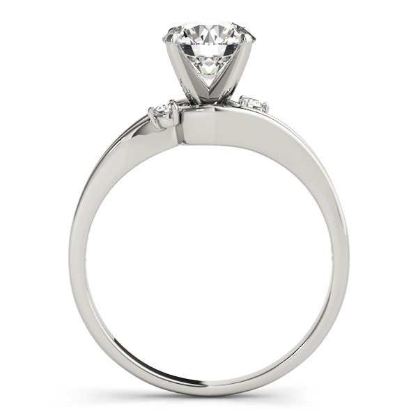 Swirl Split Band Solitaire Engagement Ring