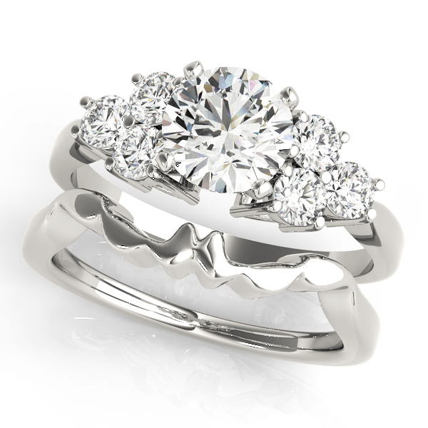 Trio Cluster Engagement Ring for Large Diamonds in Platinum
