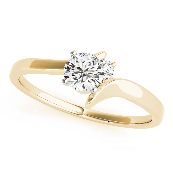 2 Diamond Engagement Ring Yellow Gold