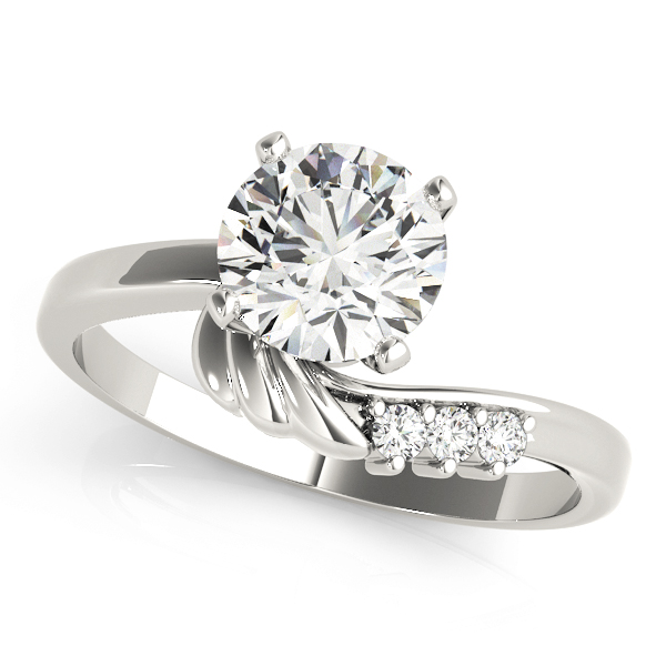 Angel Wing Diamond Engagement Ring