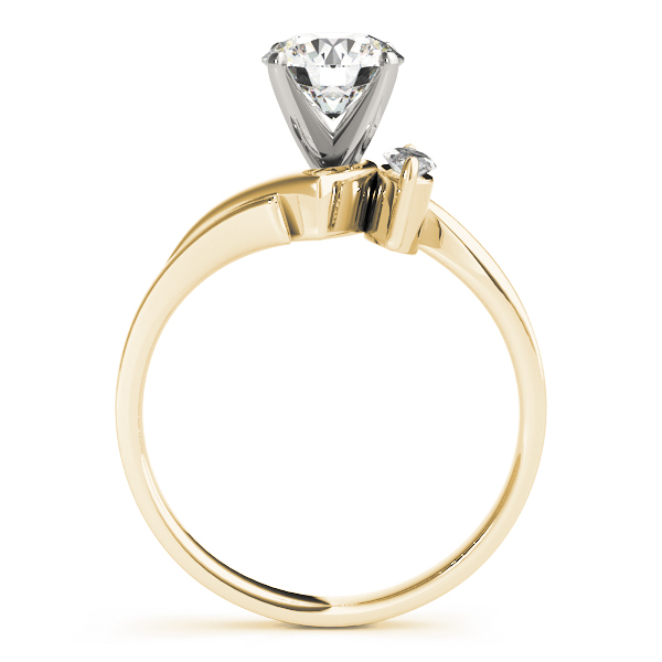 2 Diamond Marquise Engagement Ring Yellow Gold