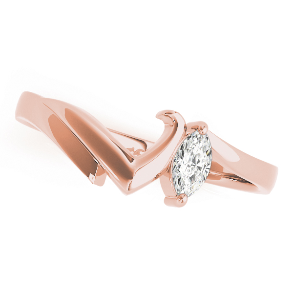 2 Diamond Marquise Bridal Set Rose Gold