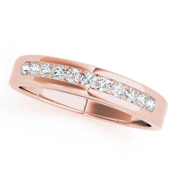 Scroll Design Cathedral Diamond Bridal Set in Rose Gold