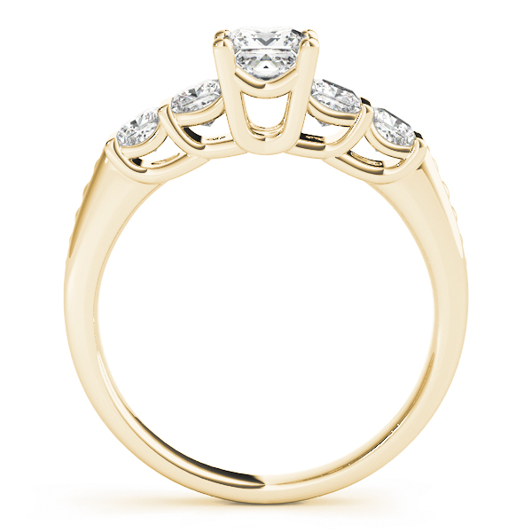 Princess Diamond Engagement Ring in Yellow Gold
