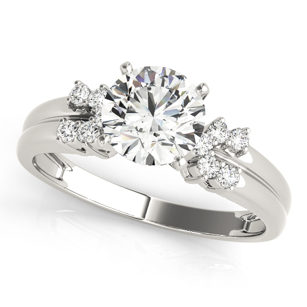 Petite Horseshoe Diamond Engagement Ring