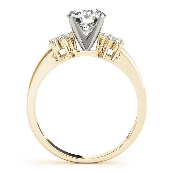 Petite Horseshoe Diamond Engagement Ring in Yellow Gold