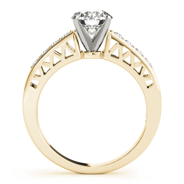 Classic Pave Diamond Engagement Ring in Yellow Gold