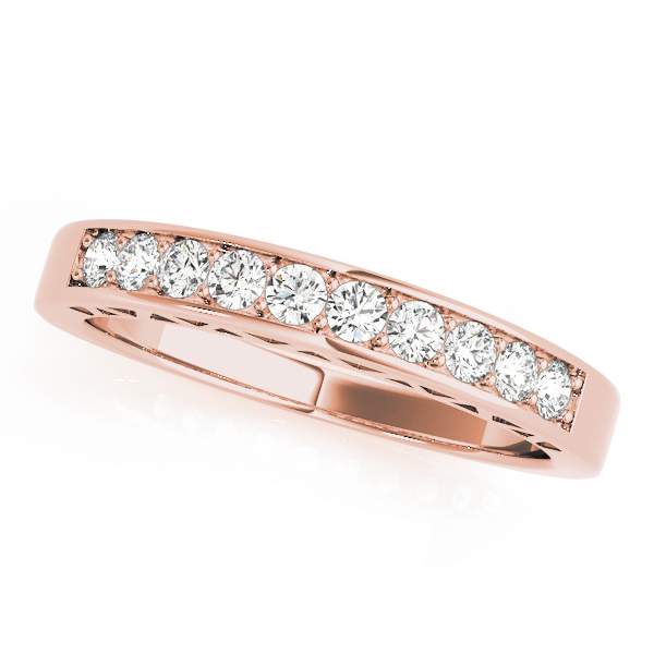 Classic Pave Diamond Bridal Set in Rose Gold