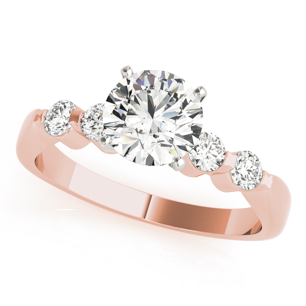 Petite Diamond Bridal Set in Rose Gold