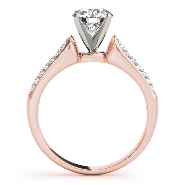 Multi-Row Diamond Bridal Set in Rose Gold