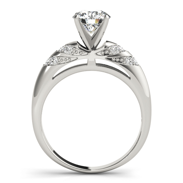 Multi-Row Pave Diamond Engagement Ring
