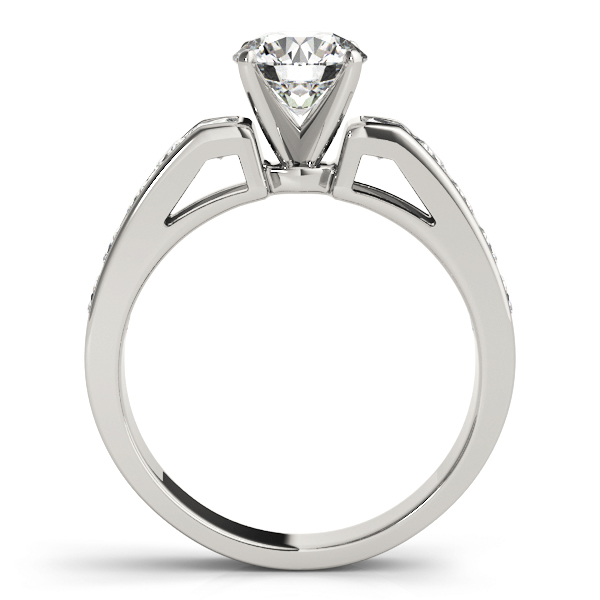 Classic Square Shoulder Channel Diamond Engagement Ring