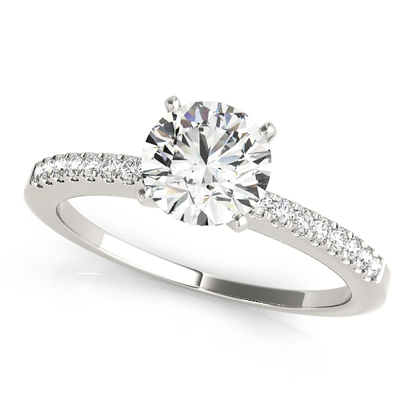 Classic Petite Diamond Engagement Ring