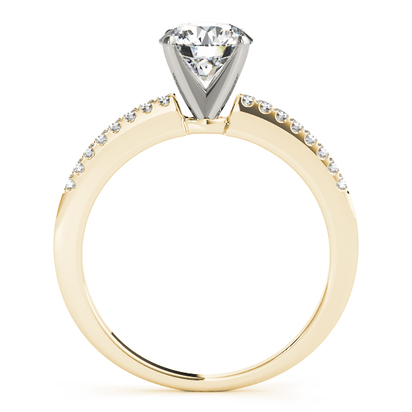 Classic Petite Diamond Engagement Ring Yellow Gold
