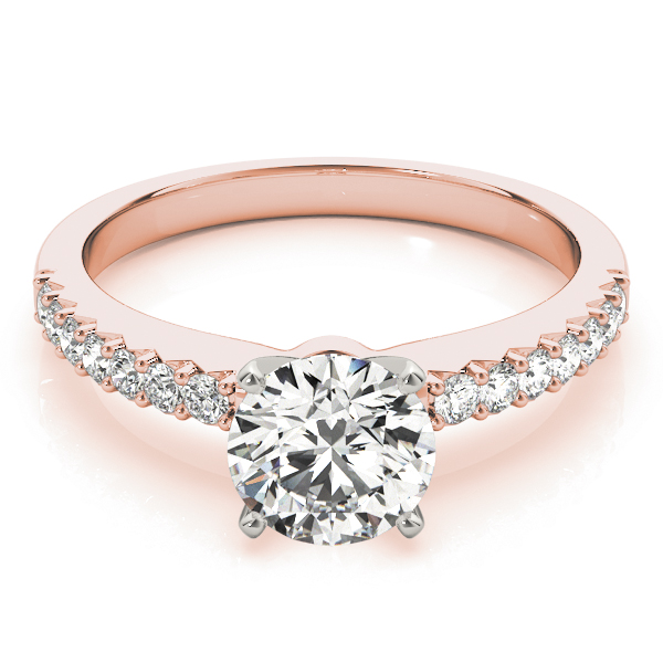 Classic Diamond Engagement Ring in Rose Gold