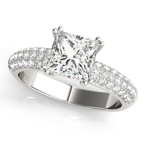 Etoile Pave Diamond Engagement Ring