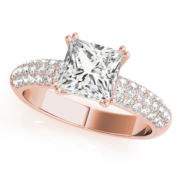 Etoile Pave Diamond Bridal Set in Rose Gold