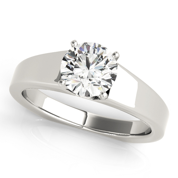 Solitaire Diamond Tapered Engagement Ring